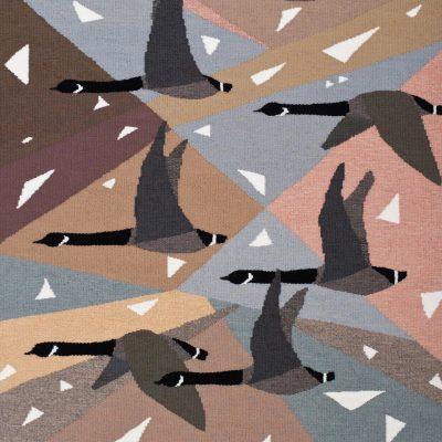 Snow Falling On Geese by Ulrika Leander
