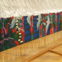 Swift Silvertails Passing - On the Loom by Ulrika Leander